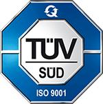 ISO Zertifikat vom TÜV Süd